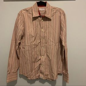 Ted Baker Stripped Button Down Collared Shirt